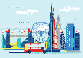 Vector Illustration The Shard and The London Skyline - бесплатный vector #416515