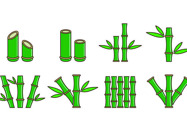 Set Of Bamboo Icons - Kostenloses vector #416545