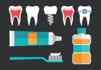Dentista Icons - vector #416555 gratis