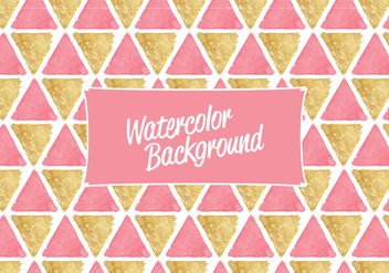 Vector Watercolor Triangles Background - Free vector #416855