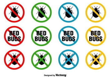 Bed Bugs Vector Signs - Free vector #416895