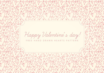 Vector Valentine's Day Background - vector gratuit #416935