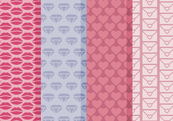 Vector Simple Valentine's Day Patterns - Kostenloses vector #416975