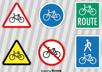 Bicycle Vector Signs - vector gratuit #416985
