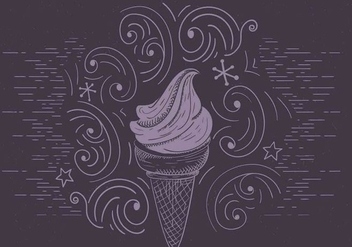 Free Vector Ice Cream Illustration - бесплатный vector #417085