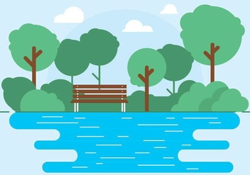 Free Vector Outdoor Park Illustration - Kostenloses vector #417105
