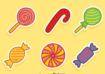 Hand Drawn Candy Collection Vector - Free vector #417235