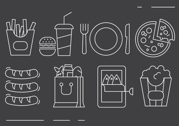 Free Food Icons - vector #417425 gratis
