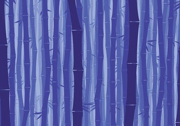 Bamboo Background Night Free Vector - vector gratuit #417445
