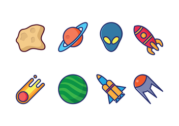 Free Space Icons - vector #417465 gratis