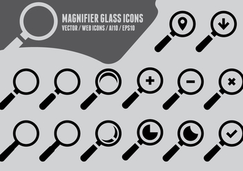 Magnifying Glass Icons - vector gratuit #417505