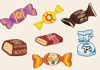 Toffee candy vector illustration - Free vector #417515