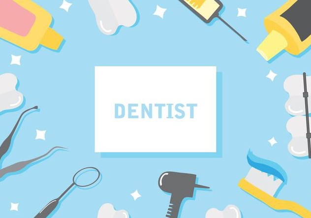 Free Dentist Background Vector Illustration Free Vector