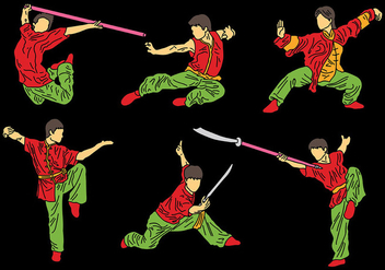 Free Wushu Icons Vector - Free vector #417615