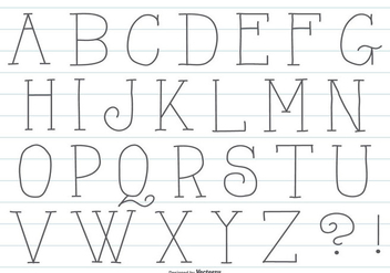Cute Hand Drawn Alphabet - vector gratuit #417675
