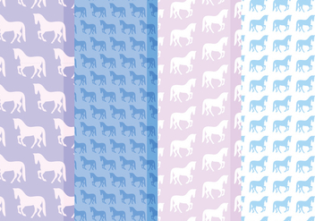 Vector Horses Patterns - Kostenloses vector #417835