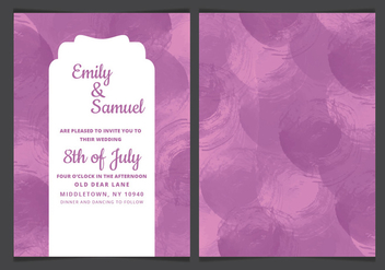 Vector Watercolor Details Wedding Invitation - vector gratuit #417875