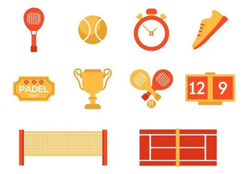 Tennis Padel Icons Vector - бесплатный vector #417985