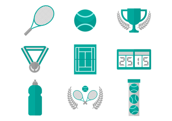 Free Tennis Vector Icons - бесплатный vector #418035