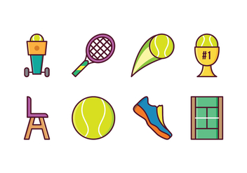 Free Tennis Icons - vector gratuit #418055