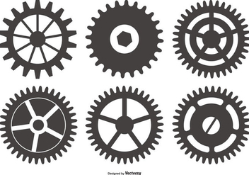 Cog Wheel Vector Shapes - vector gratuit #418115