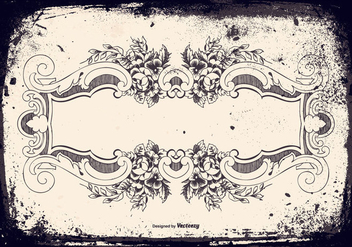 Vintage Grunge Frame Background - vector #418125 gratis
