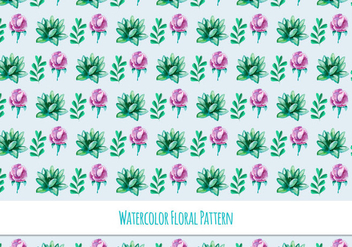 Beautiful Free Vector Floral Pattern - бесплатный vector #418135