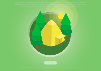 Sapin Jungle and Hiking - vector gratuit #418145