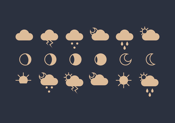 Vector Weather Icon Set - vector #418155 gratis