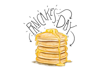 Pancake's Day Illustration - vector gratuit #418215