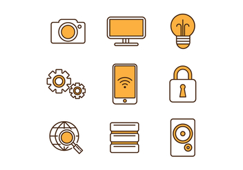 Free Technology Icons - vector #418255 gratis