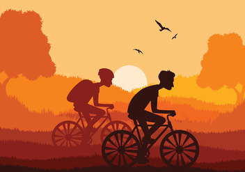 Bicicleta Together Free Vector - vector gratuit #418285