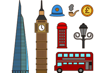Set Of London Icons - vector #418295 gratis