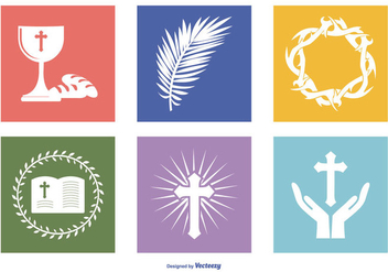 Holy Week Icon Collection - vector #418345 gratis