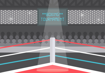 Free Vector Wrestling Ring Illustration - Free vector #418385