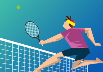 Tennis Player - Free vector #418395