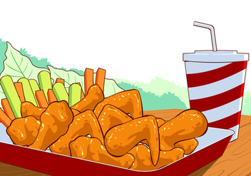 Buffalo Wings Free Vector - бесплатный vector #418455