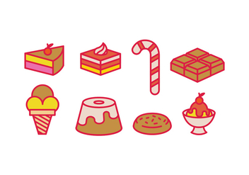 Sweet vectors icons - vector #418505 gratis
