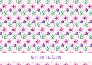 Free Vector Watercolor Pattern with Beautiful Flowers - vector #418615 gratis