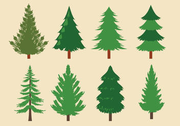 Vector Collection of Christmas Trees or Sapin - Free vector #418625