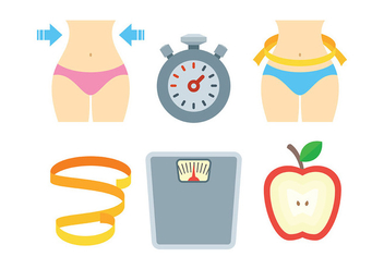 Free Slimming Icons Vector - vector gratuit #418695