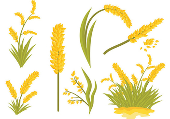 Free Sea Oats Icons Vector - Free vector #418705