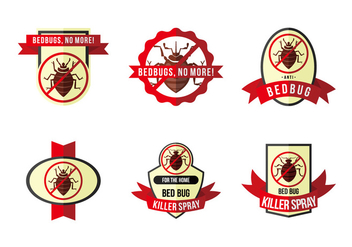 Anti bed bug label flat vector - vector gratuit #418725