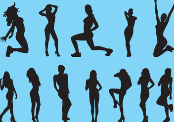 Silhouette Of Slimming Woman - Free vector #418745