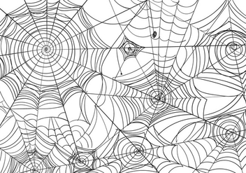 Black And White Spiderweb Vector Illustration - vector gratuit #418765