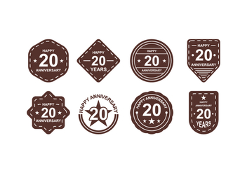 Free Anniversary Badges - Free vector #418825