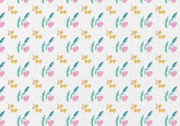 Free Vector Watercolor Spring Flowers Pattern - Free vector #418865