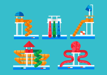Water Slide Vector Pack - vector gratuit #418885