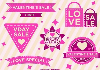 Valentine Days Vector Labels - Kostenloses vector #418915