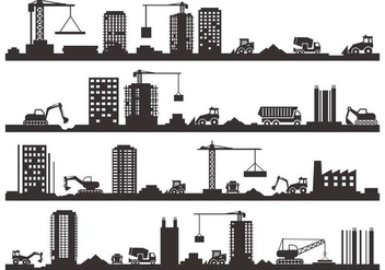 Free Construction Silhouette Vector - Kostenloses vector #418965